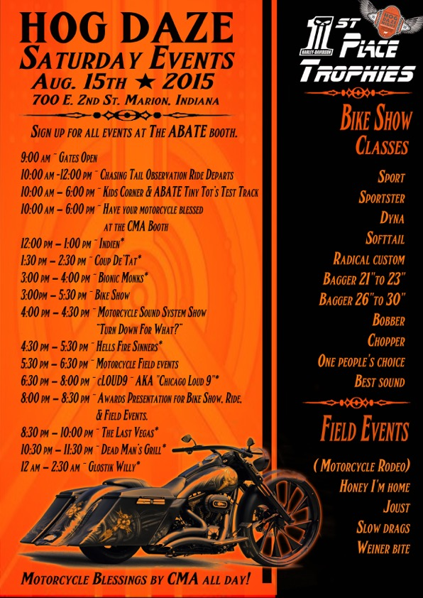 Hog Daze Saturday Flyer