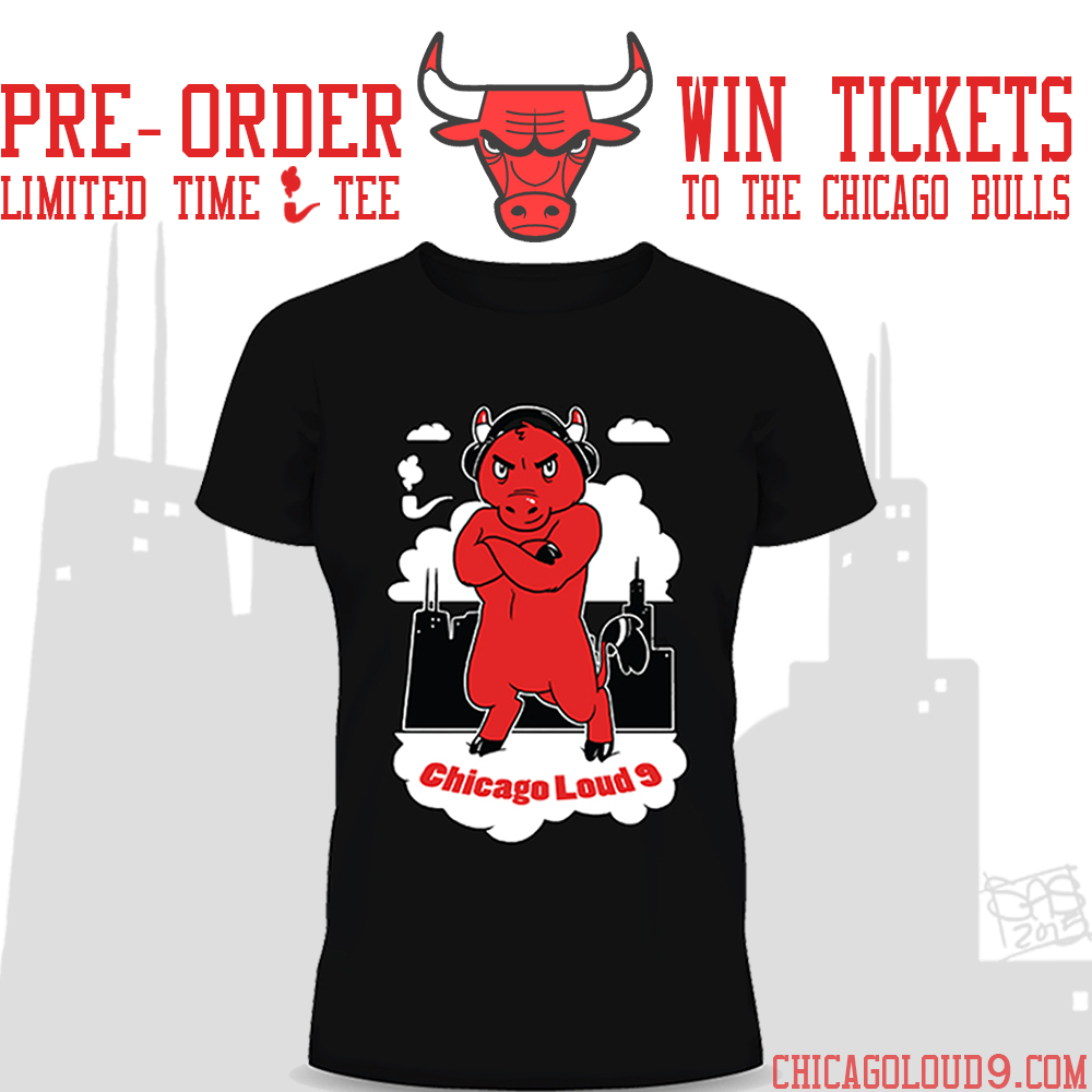win tickets to the Chicago Bulls by pre ordering our limited edition tee