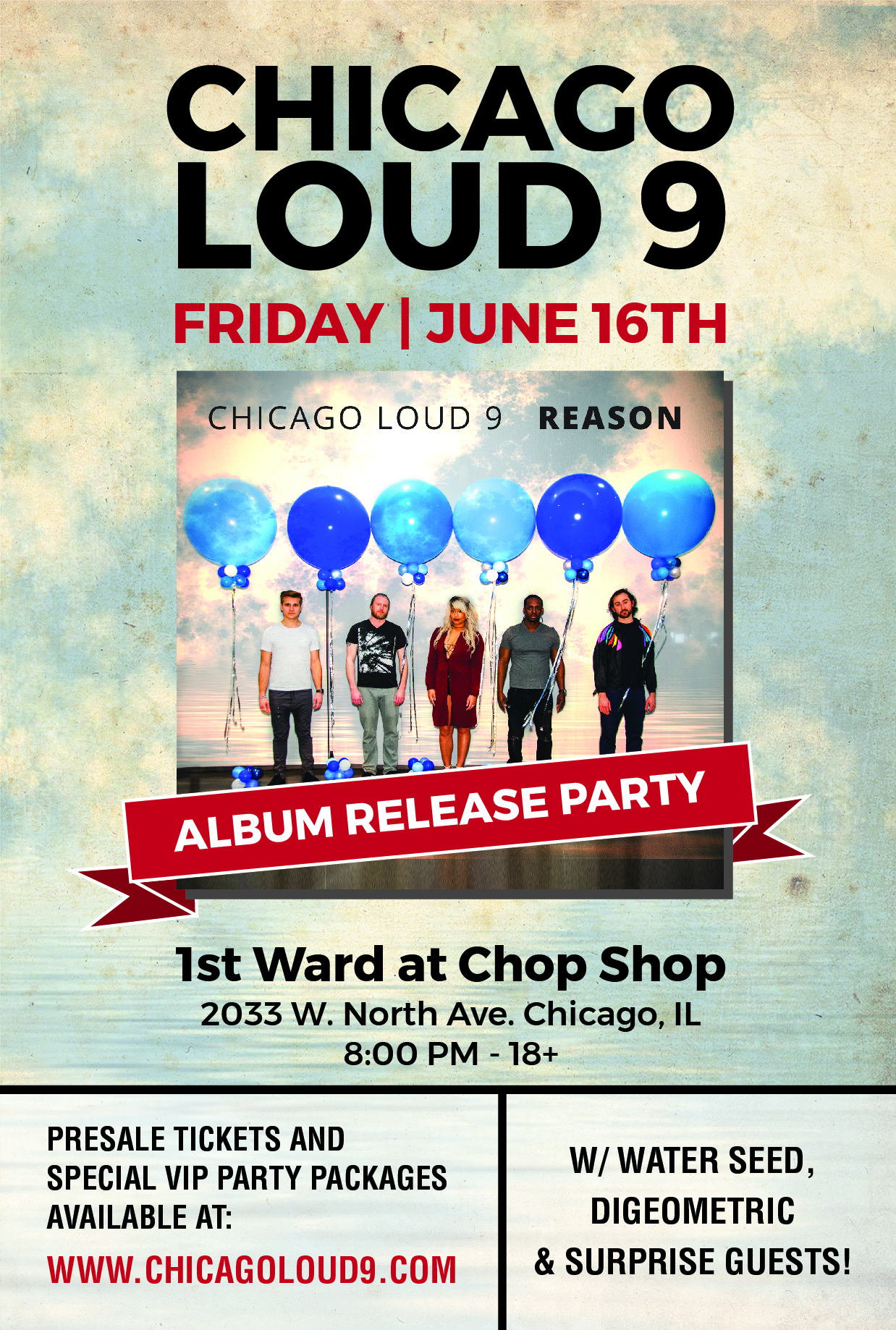 Album Release Party Poster Chicago Loud 9